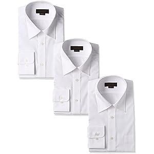 [スティングロード] 長袖 形態安定 白 ワイシャツ 3枚セット レギュラーカラー 綿高率混 レギュラーフィット ノーアイロン ビジネス 冠婚葬祭 MA1112-AM-3 メンズ ホワイト 日本 39-80-(日本サイズM相当)