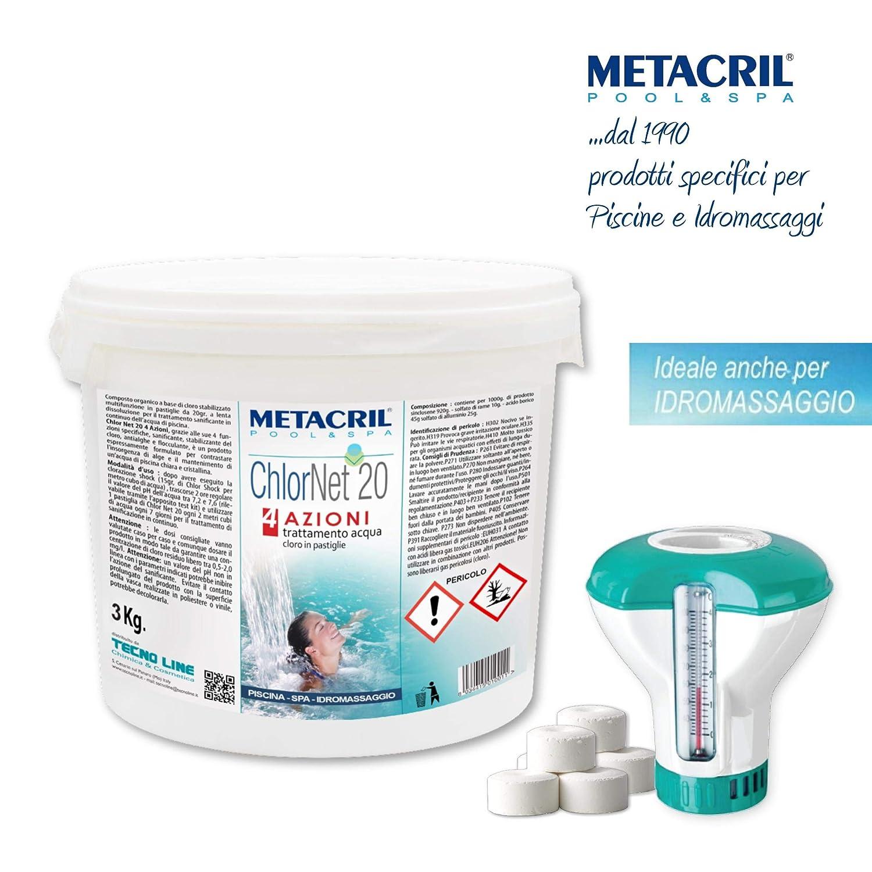 Metacril Cloro Piscina Multiacción en Pastillas de 20 g. + ...