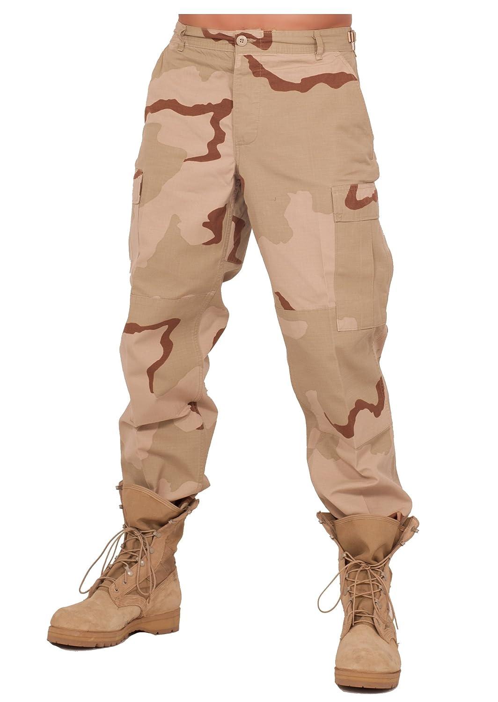 Rothco Mens BDU 3 Color Desert Pants