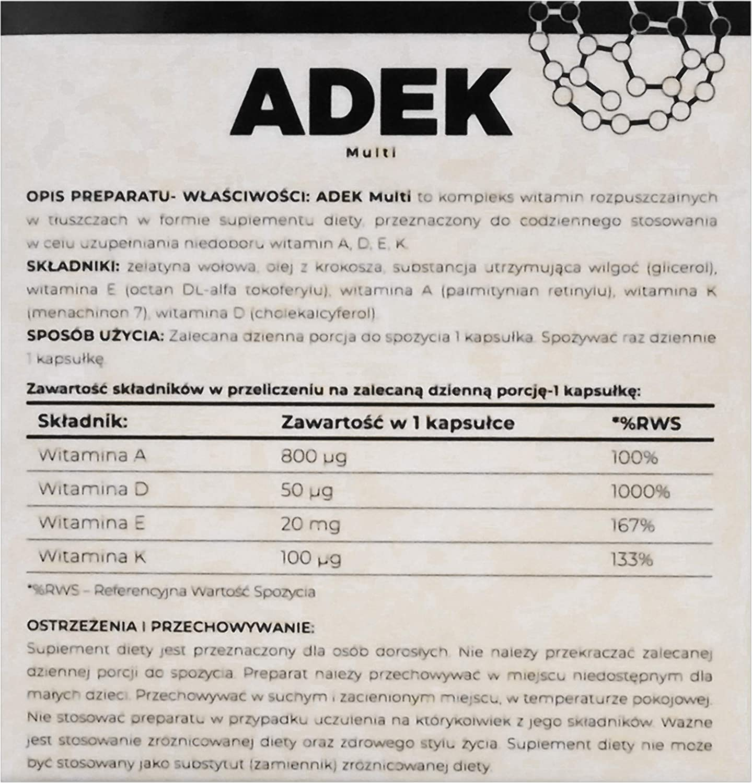 LABORELL ADEK Multi 100 Cápsulas 1 paquete Vitamina A D E K Sin ...