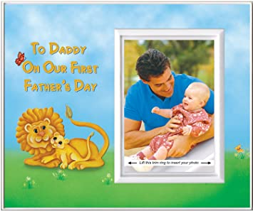 to daddy on our first fathers day picture frame gift