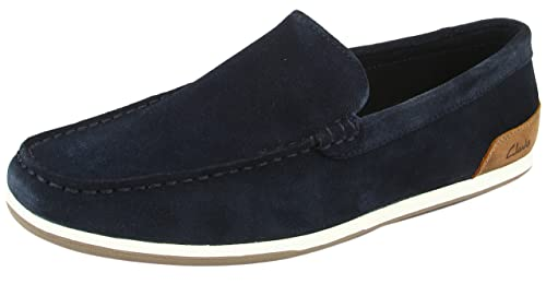 Clarks Medly Sun - Mocasines, Hombre, Color Navy Suede, Talla 41.5: Amazon.es: Zapatos y complementos