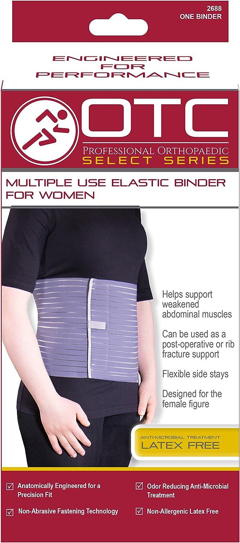 Ribbed Elastic Compression OTC Abdominal Binder for Women Medium ...