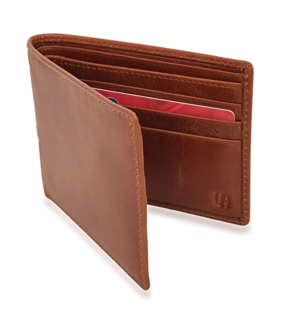 ca2129e4be2c2 V-élan Men s Vintage Leather Slim Bill Fold Wallet With RFID Protection.  4.5