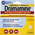 36-Count Dramamine Original Formula Motion Sickness Relief Tablets