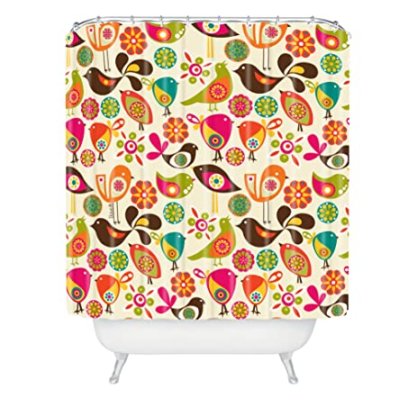 Deny Designs Valentina Ramos Little Birds Shower Curtain Extra Long 69 X 90