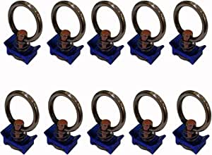 Single Stud Fitting with Stainless Steel Ring for L Track/Airline Track-10Packs