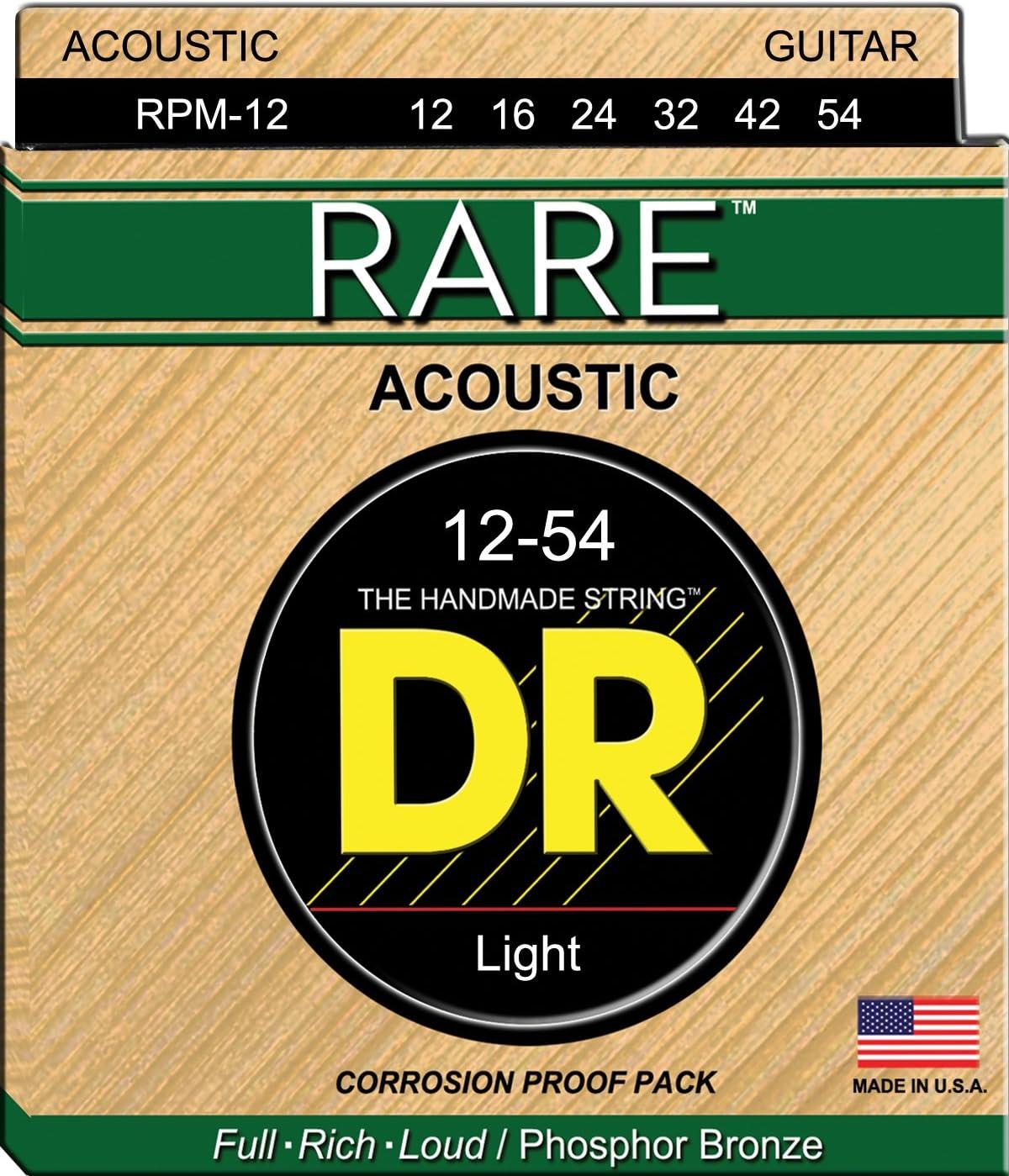 DR Strings Rare - Phosphor Bronze AcousticHex Core 12-54