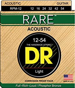 DR Strings Rare - Phosphor Bronze AcousticHex Core 12-54