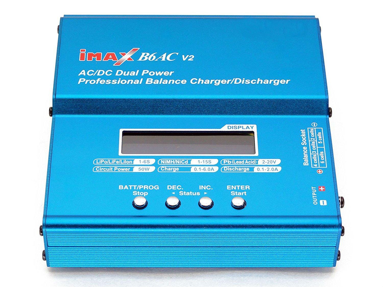 Balancing Battery Chargerfome Imax B6ac V2 Dual Power 6amps Rc Watt Meter Dc Voltage Current Balancer Analyze 50watts Lipo Lihv Liion Life Nicd Nimh Pb Lead Acid Ac Professional
