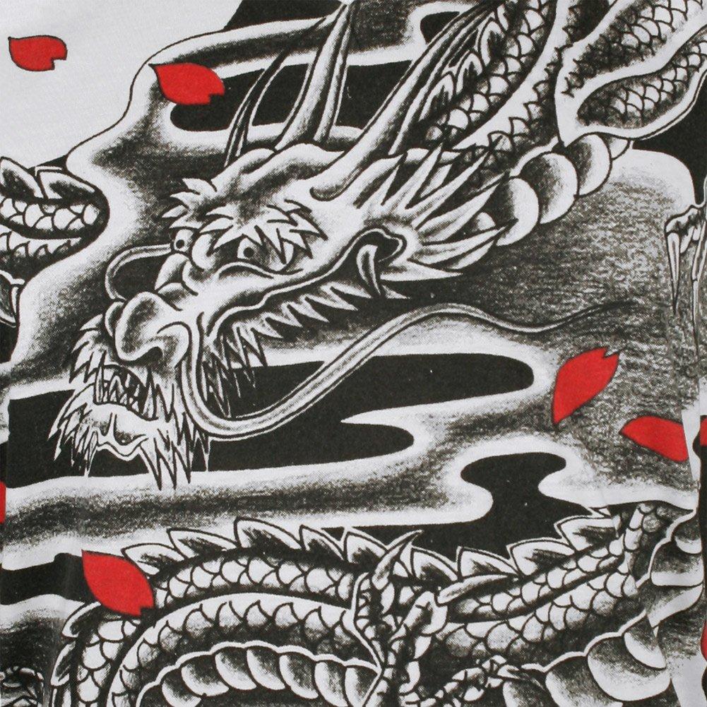 Ako Roshi Camiseta Hombre Dragón Negro Talla M L XL Japón Artes ...