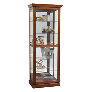 Amazon Pulaski Two Way Sliding Door Curio Cabinet 30 X 20 X