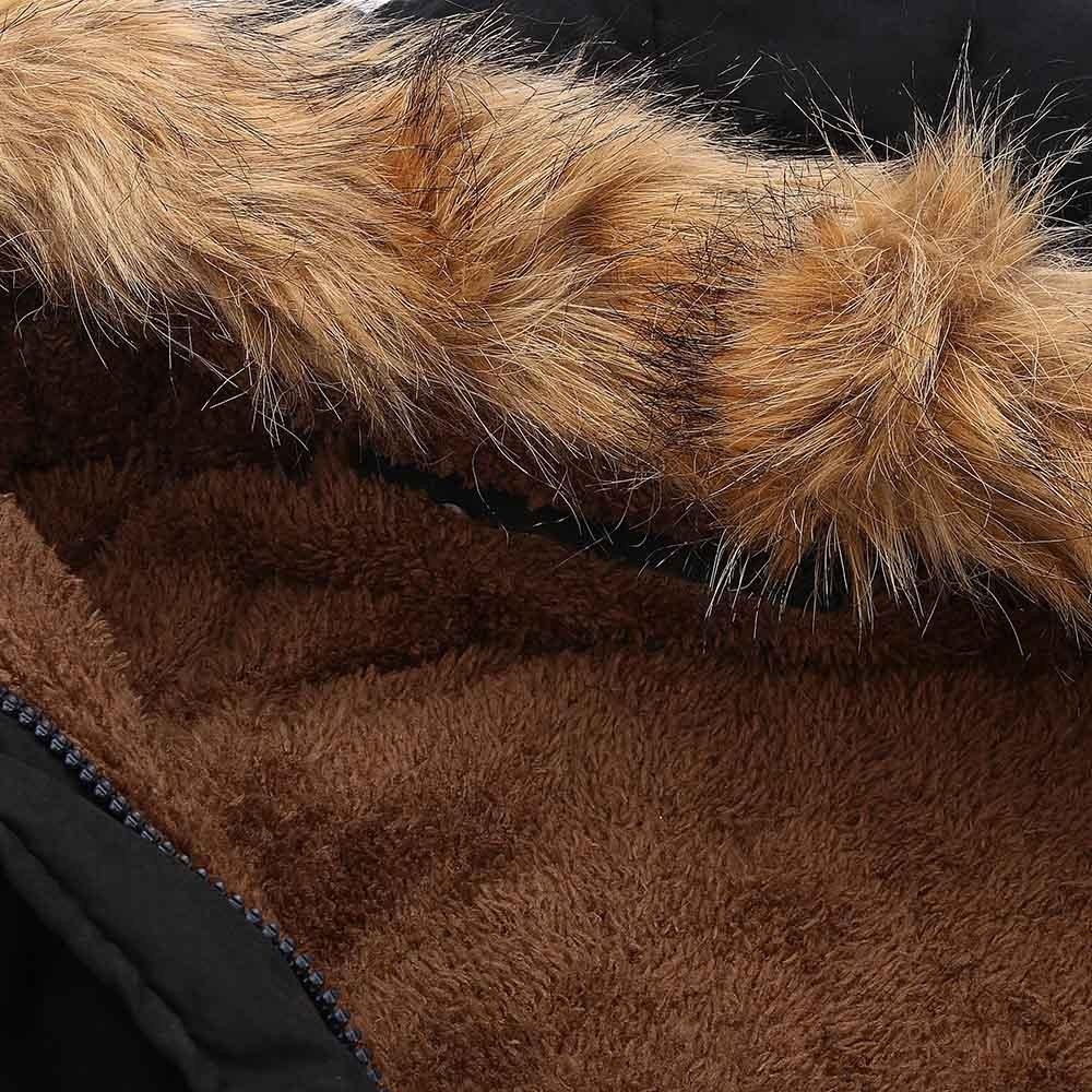 Covermason Manteau Femme Chaud Parka Hiver Fourrure Chaude Collier /à Capuche Rembourr/ée Veste Slim Winter Parka Outwear Coats avec Capuche Militaire Style
