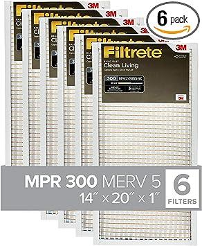 14x20x1 Clean Air High Performance air Filter 2 Pack