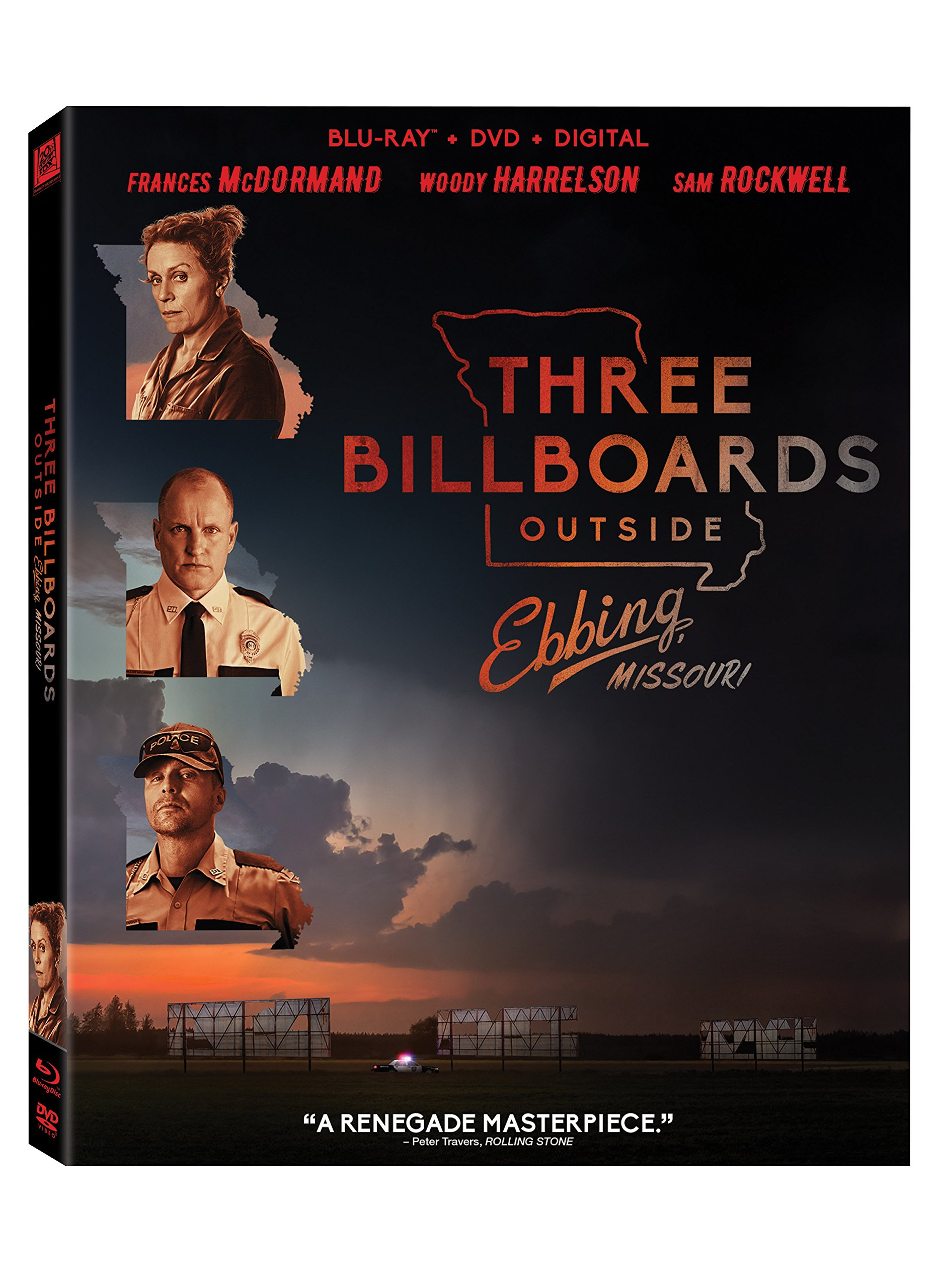 Blu-ray : Three Billboards Outside Ebbings, Missouri (With DVD, Digital Copy, Subtitled, Dolby, Widescreen)