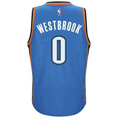 Adidas Mens Oklahoma City Thunder NBA Russell Westbrook Swingman Jersey Blue ...