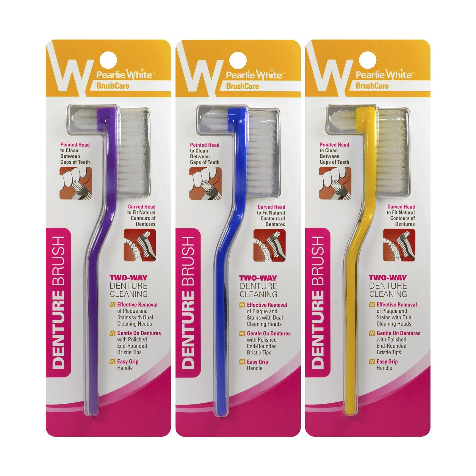 Pearlie White Denture Brush, Pack of 3