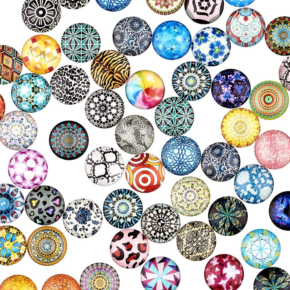 20mm, Round Craftdady 200 Pieces Half Round Flat Back Transparent Glass Cabochons Clear Glass Dome Cabochon for Photo Pendant Craft Jewelry Making