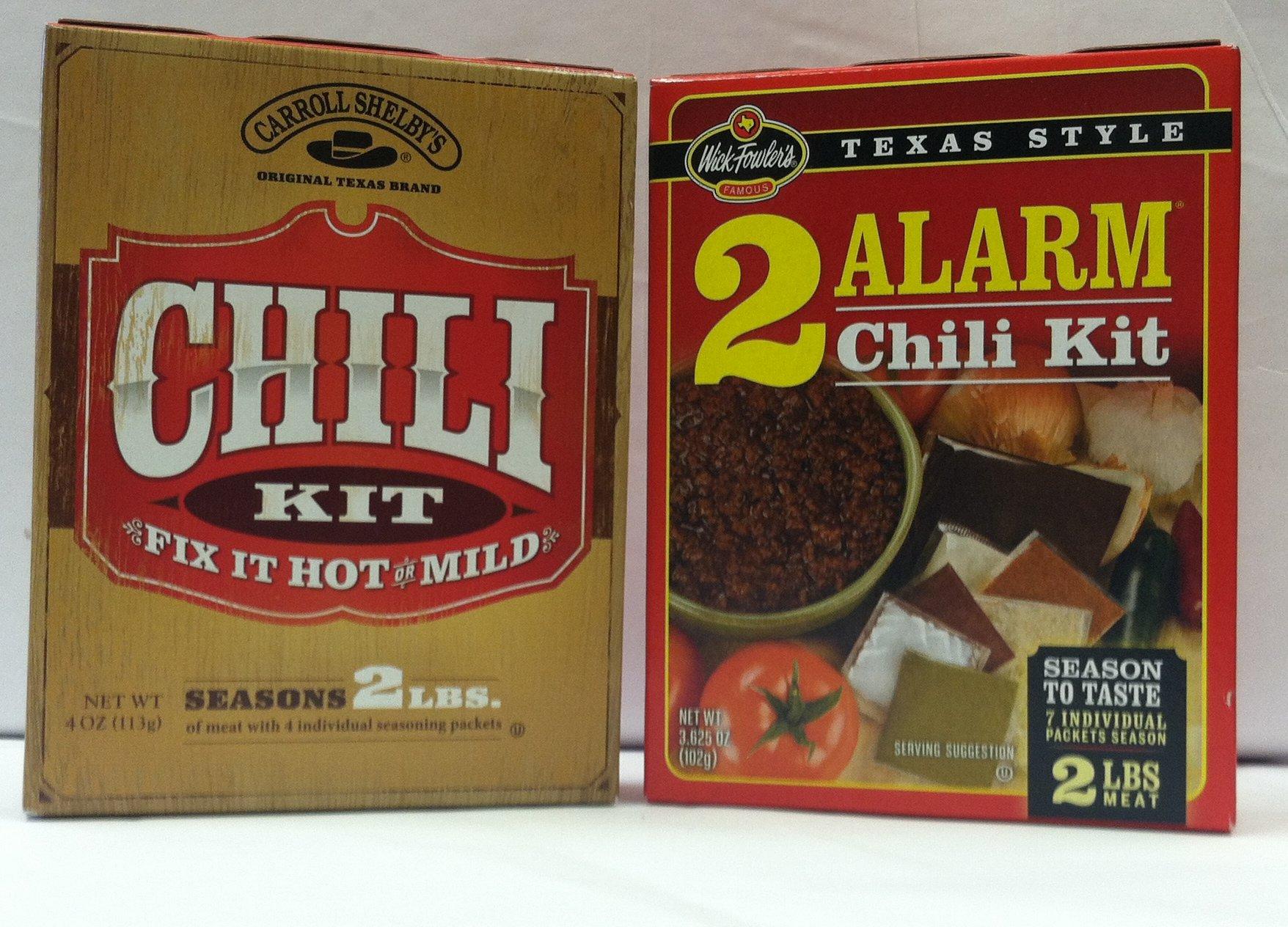 Chilli Sampler 2 Alarm Chili and Caroll Shelby's Chilli Kits