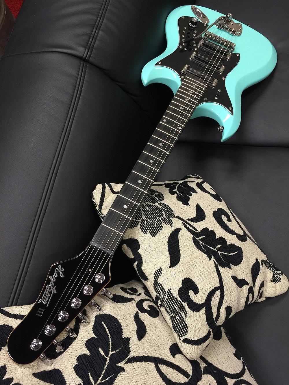Hagstrom 6 String Electric Guitar, Aged Sky Blue (HII-ABE) by Hagstrom