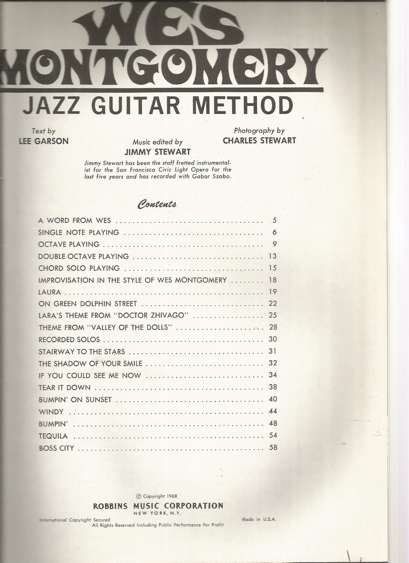 Wes Montgomery Jazz Guitar Method Amazon Wes Montgomery Books