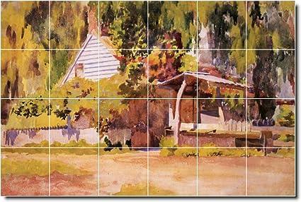 Ceramic Tile MuralThomas Anschutz Country Painting W X - 12x12 painted ceramic tile