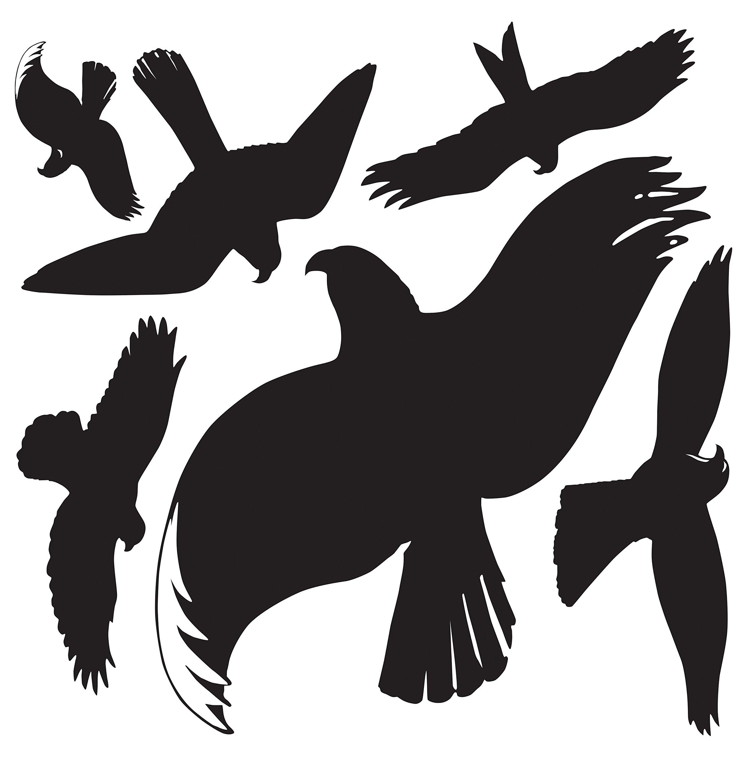Avery Zweckform 4485Warning Birds Black (Foil) 6Stickers Black by Avery Dennison (Image #2)