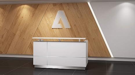 Amazon.com: Moderno escritorio de recepción de color blanco ...