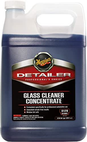 Meguiar's Glass Cleaner Concentrate – Car Window Cleaner for a Crystal Clear View – D1200 1 gal
