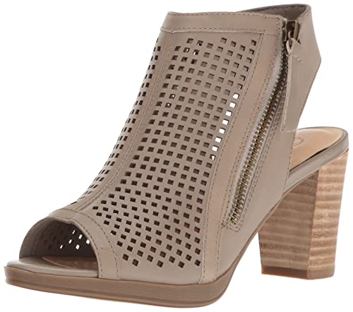 Bella Vita Women's Lenore Heeled Sandal, Almond Leather, 10 M US