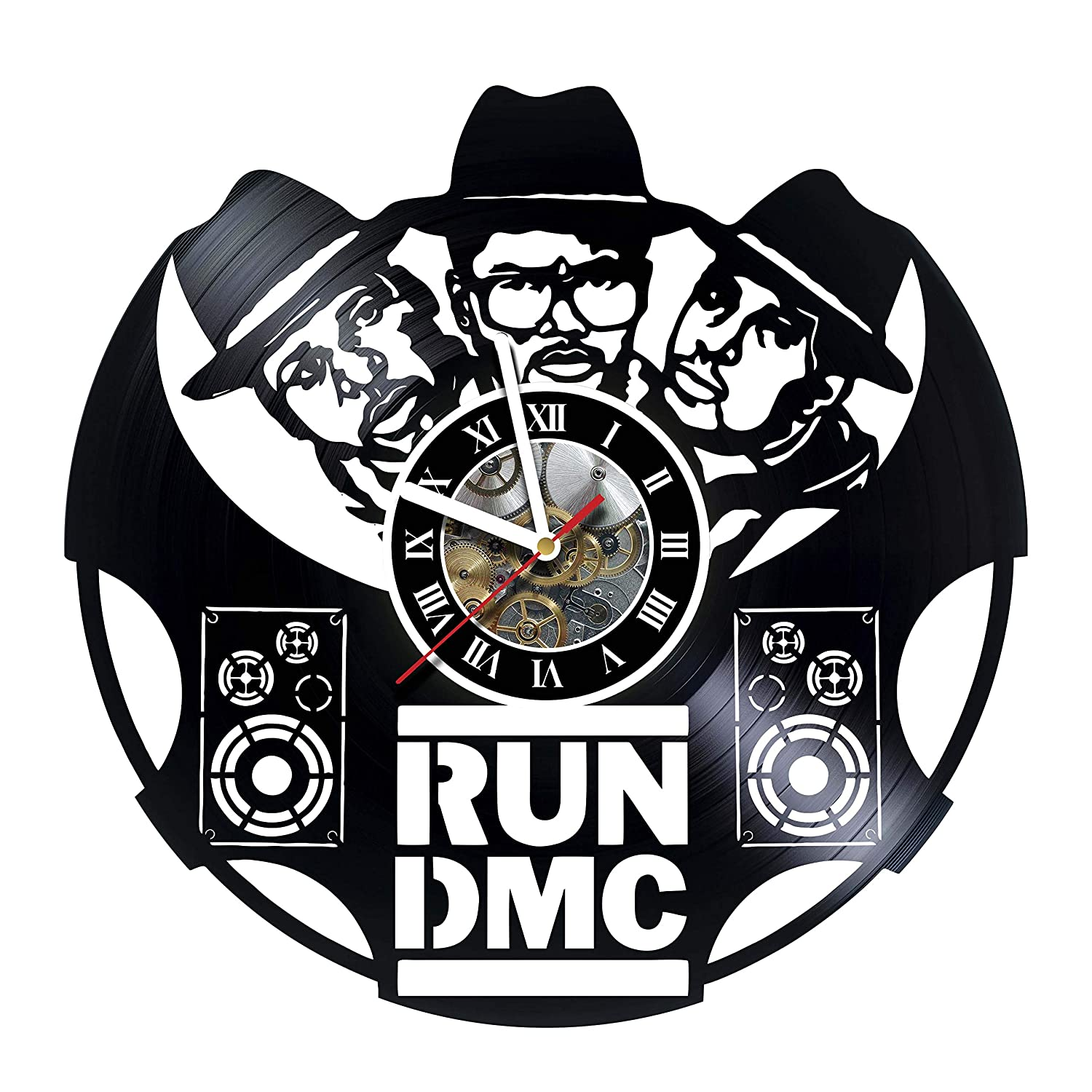 Amazon com: Run DMC - Vinyl Record Wall Clock - Unique Home