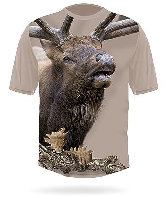 a83cda7f3cb8 Bugling Bull Elk T-Shirt Short Sleeve - Rocky Mountain Elk Shirts ...