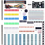 ELEGOO Electronic Fun Kit Breadboard Cable Resistor Capacitor LED Potentiometer for Arduino Learning Kit, UNO R3, MEGA2560, Raspberry Pi, Datasheet Available To Download