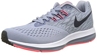 Nike New Womens Zoom Winflo 4 Running Shoe Glacier Grey/Obsidian 8