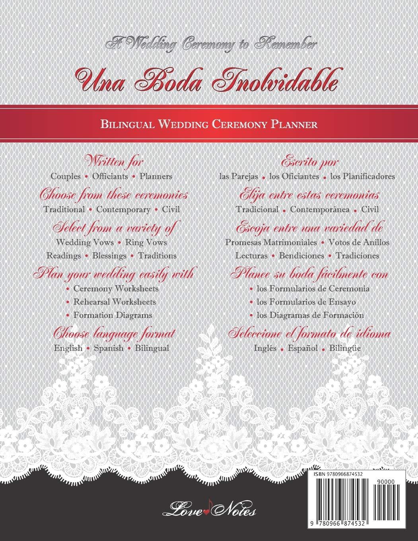 Amazon Fr Una Boda Inolvidable A Wedding Ceremony To