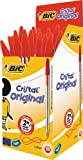 BIC Cristal Original Ballpoint Pens Red 50 Box