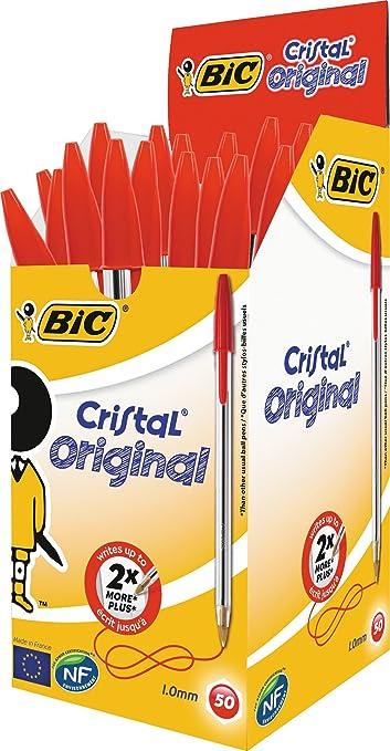 342 opinioni per Bic Cristal Original Punta Media 1 mm Confezione 50 Penne Colore Rosso