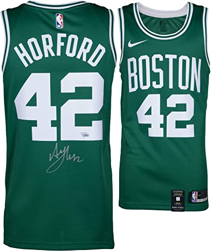 premium selection c19e0 7ec98 Al Horford Boston Celtics Autographed Green Nike Swingman ...
