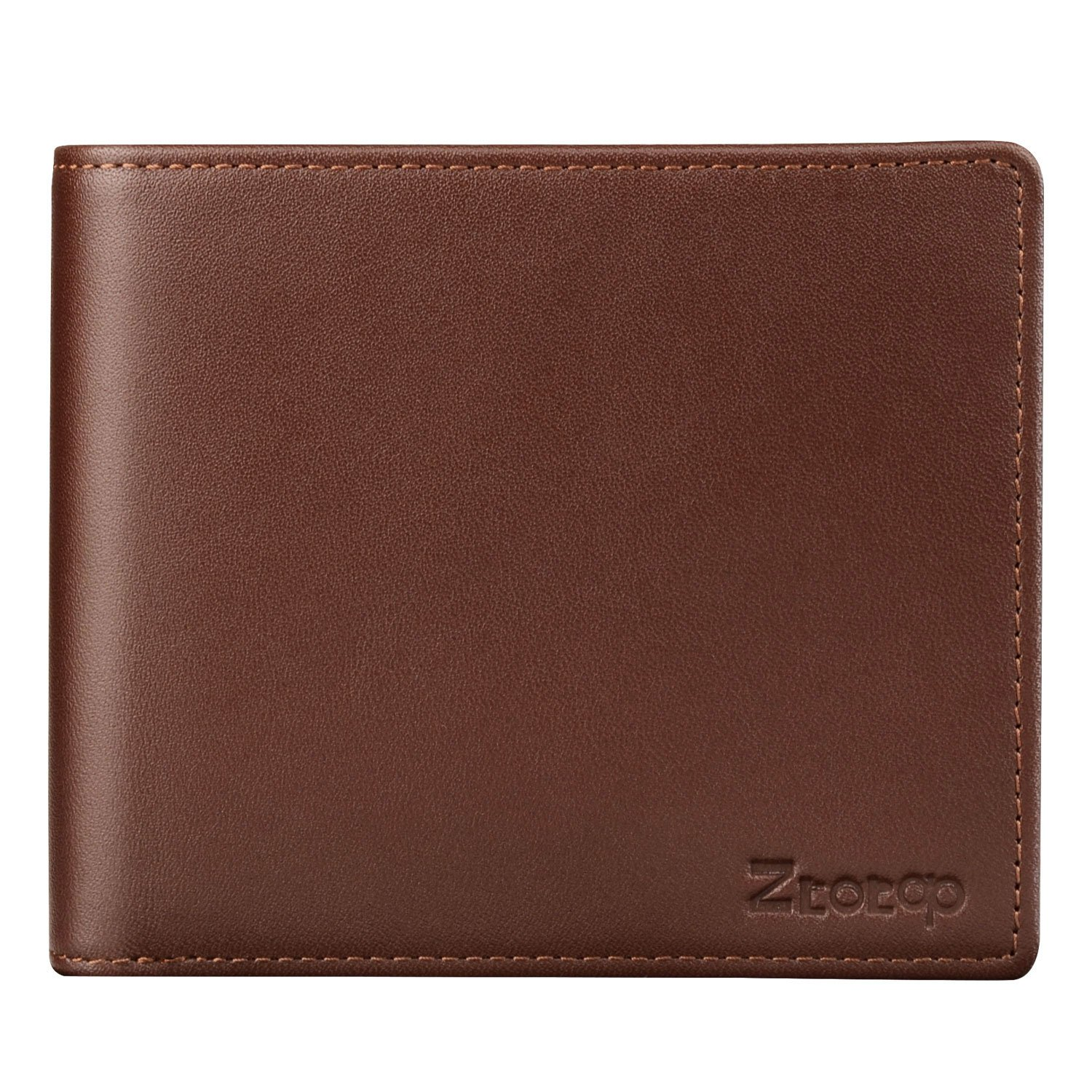 Mens Wallet Leather, Ztotop Slim Bifold RFID Blocking Wallet with 2 ID Window