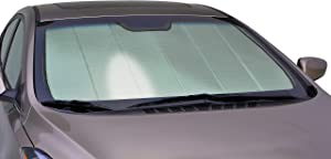 Intro-Tech SU-43A-P Silver w/Eyesight Custom Fit Premium Folding Windshield Sunshade for Select Subaru XV Crosstrek Models