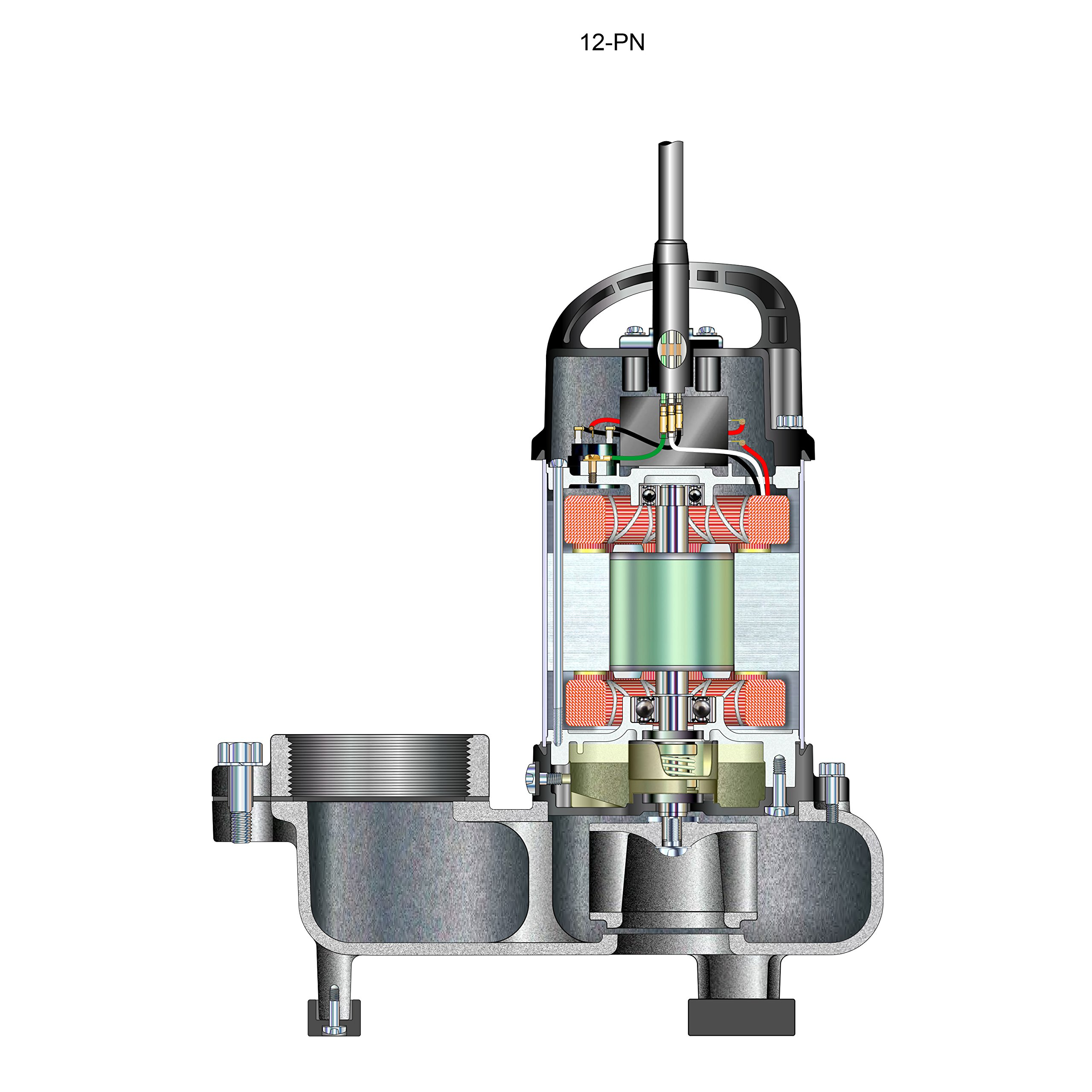 Aquascape 30391 Tsurumi 12PN Submersible Pump for Ponds, Skimmer Filters, and Pondless Waterfalls, 10,000 GPH by Tsurumi (Image #4)