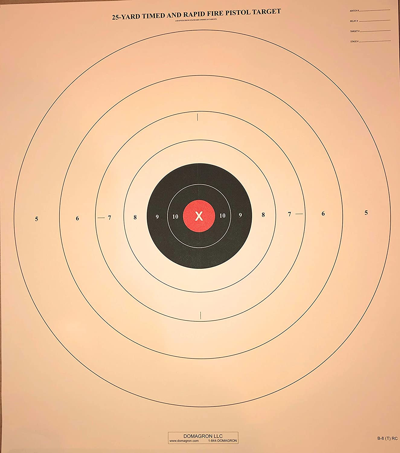 """Official NRA B-8 B8 25-Yard Timed /& Rapid Fire Pistol 100 21/""""x24/"""" on tag"""