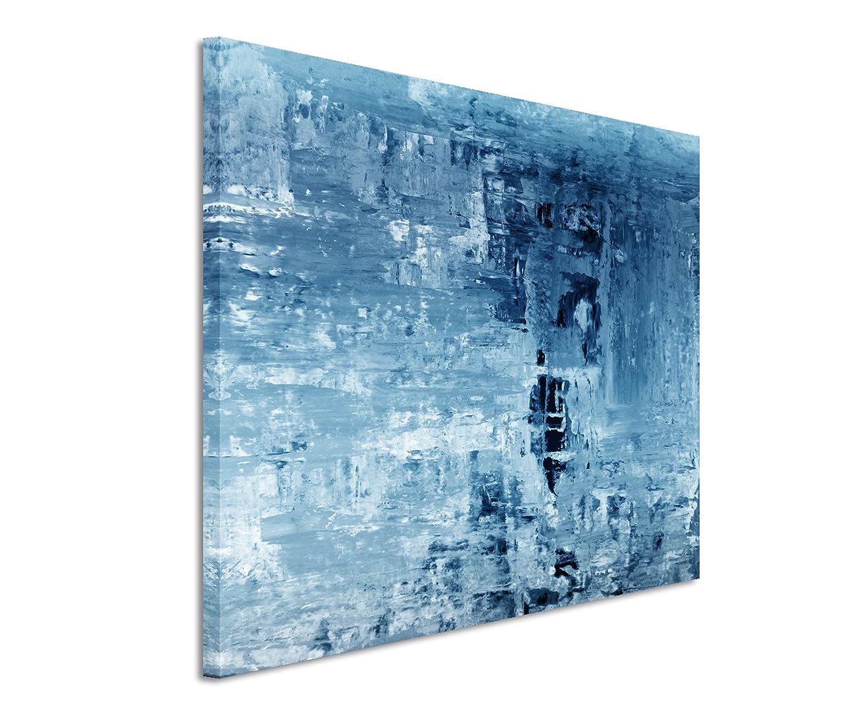 Amazon.de: 120x80cm Leinwandbild auf Keilrahmen Kunstmalerei blau ...