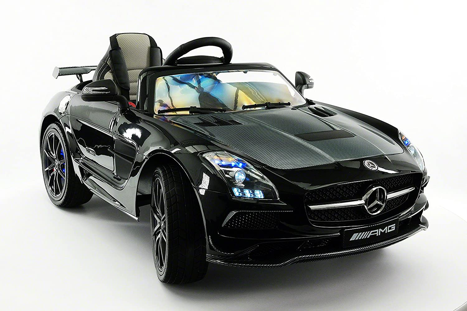 Amazon.com: Mercedes SLS AMG Final Edition 12V Kids Ride-On Car with ...