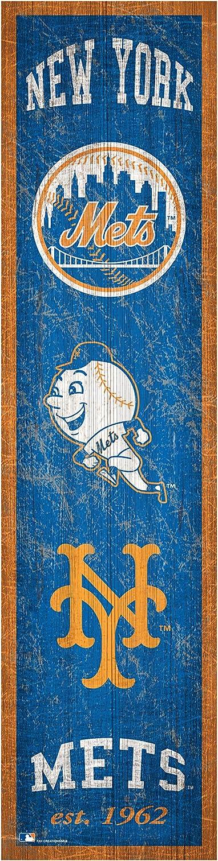 Fan Creations MLB New York Mets Unisex New York Mets Heritage Banner 6x24 Sign, Team, 6 x 24