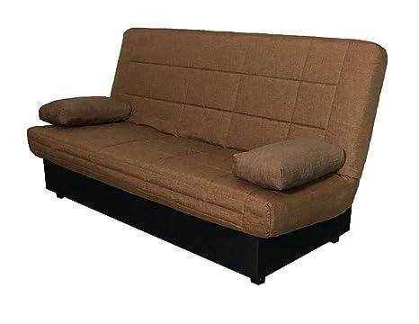 Abitti Sofá Cama Color marrón Sistema abatible fácil con ...