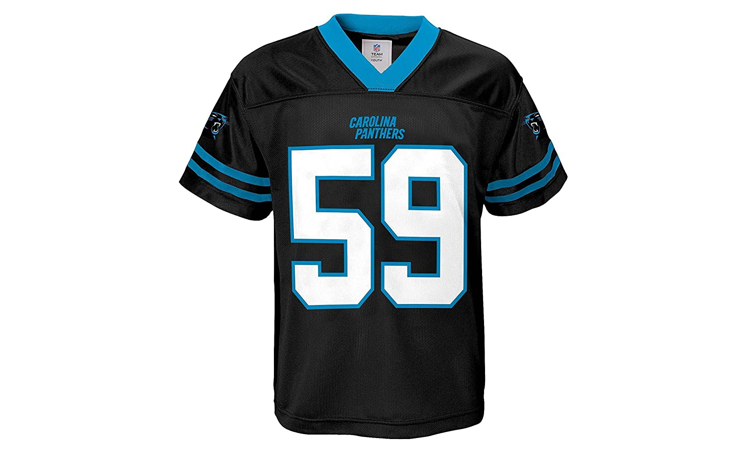 finest selection e6949 1e1bb Luke Kuechly Carolina Panthers Black Home Player Jersey Youth