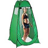 Relaxdays duschtält, pop up stående tält för camping, trädgård & utomhus, omklädning-och toaletttält,200 x 120 cm, grön
