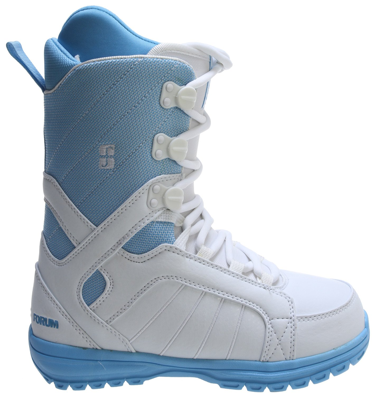 Forum - Womens Bebop Snowboard Boots 2013, White-Blue, 5