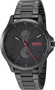 HUGO by Hugo Boss Men's Quartz Watch with Stainless Steel Strap, Black, 18 (Model: 1530028)